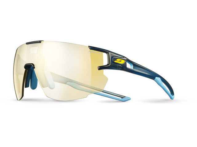 Julbo Aerospeed Zebra Light Sunglasses Translucent Blue/Blue/Yellow-Yellow/Brown